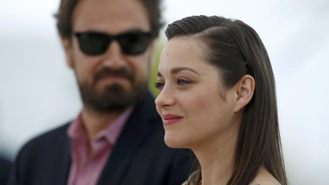 "Cast member Marion Cotillard, and director Justin Kurzel pose during a photocall for the film ""Macbeth"" in competition at the 68th Cannes Film Festival in Cannes"