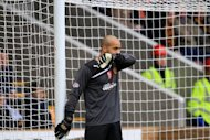 Darren Randolph, pictured, is accused of allegedly kicking Hearts forward Callum Paterson