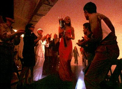 Jocelyn ( Dominique Swain ) in a dream sequence fashion show in Given Films' Intern