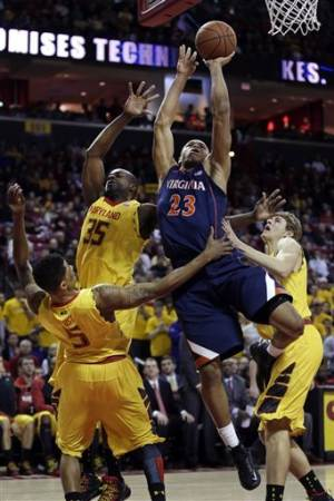 Harris carries Virginia over Maryland 80-69