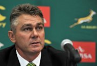 Springboks coach Heyneke Meyer, pintured here in January, took the bold step of leaving Morne Steyn out of the match 22 with Elton Jantjies covering Johan Goosen