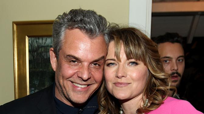 "IMAGE DISTRIBUTED FOR STARZ - Danny Huston, left, and Lucy Lawless pose together at the after party for the premiere of ""Spartacus: War of the Damned"" on Tuesday, Jan. 22, 2013 in Los Angeles. ""Spartacus: War of the Damned"" premieres Friday, Jan. 25 at 9PM on STARZ. (Photo by Matt Sayles/Invision for STARZ/AP Images)"