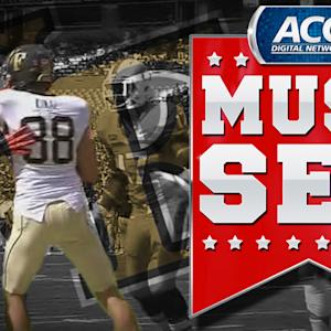 Wake Forest Punter Stops After Inadvertent Whistle | ACC Must See Moment