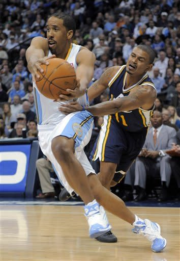 Nene scores 25 as Nuggets rout Jazz, 117-100