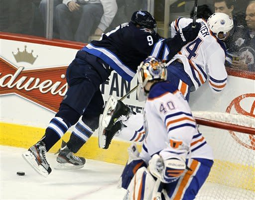 Petrell, Hall lead Oilers past Jets 5-3