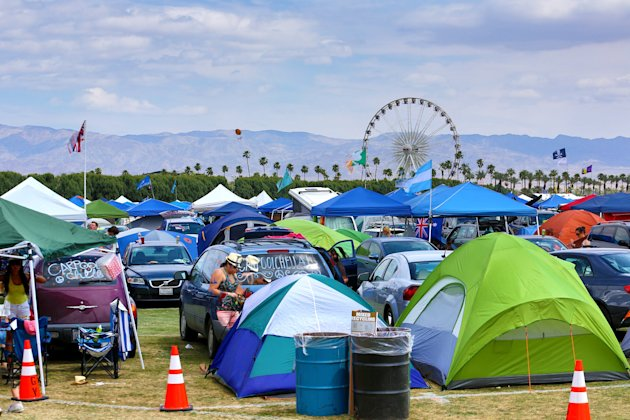 The Empire Polo Field Prepares For The 2012 Coachella Music Festival