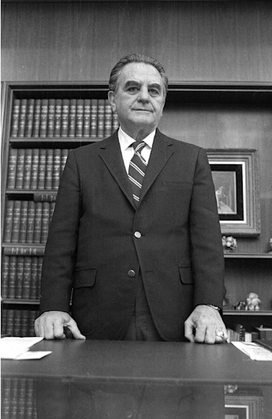 FILE - This Jan. 31, 1973 black-and-white file photo shows U.S. District Court Judge John Sirica in his office in Washington. The National Archives is publishing for the first time more than 850 pages of once-secret documents from the Watergate political scandal, including privileged legal conversations and prison evaluations of some Watergate burglars. A judge decided earlier this month to unseal the material.The files released Friday do not appear to provide any significant new revelations, but they provide context by revealing behind-the-scenes deliberations by the judge in charge of the case, U.S. District Court Judge John J. Sirica, along with prosecutors and defense lawyers. The files showed the judge at times discussing the case with special prosecutors and justifying his attempts to learn new facts in the case. (AP Photo)