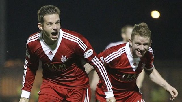 Peter Pawlett, left, scored Aberdeen's winner