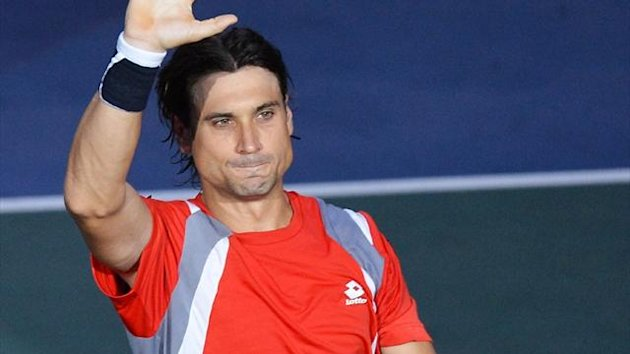 David Ferrer celebrates after winning his Paris Masters quarter-final against French Jo-Wilfried Tsonga (AFP)