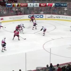 Craig Anderson Save on Stephen Gionta (04:40/1st)