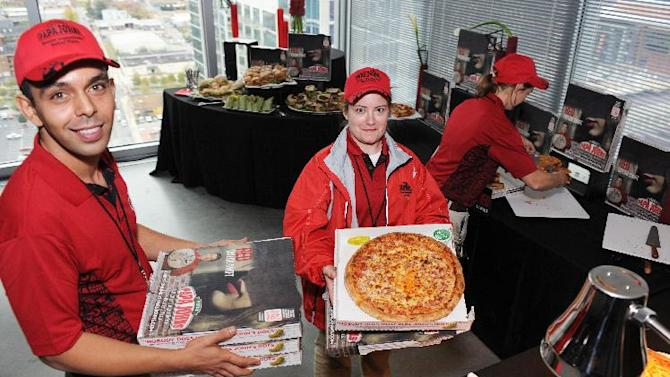 Buffet at Papa John's launch of Taylor Swift's Red Album, on Friday, Oct. 26, 2012 in Nashville, Tenn. (Photo by Doug DuKane/Invision for Papa John's/AP Images)