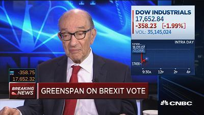 Alan Greenspan says British break from EU 'is just the tip of the iceberg'