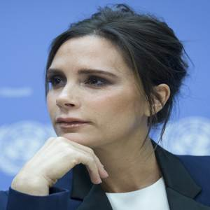 Victoria Beckham Speaks at the United Nations
