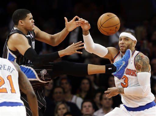 Anthony returns, scores 21 as Knicks beat Magic