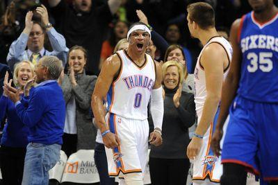 2015 NBA scores: Russell Westbrook, Anthony Davis highlight wild and crazy night