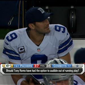 Should Dallas Cowboys coach Jason Garrett let quarterback Tony Romo change plays?