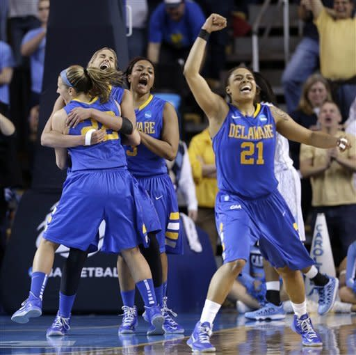 Delaware women beat North Carolina 78-69 in NCAAs