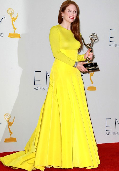 Emmys 2012: Julianne Moore also opts for the sunny colour.