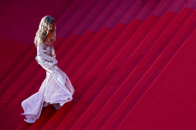 "Model Petra Nemcova arrives for the screening of the film ""Behind the Candelabra"" in competition during the 66th Cannes Film Festival"