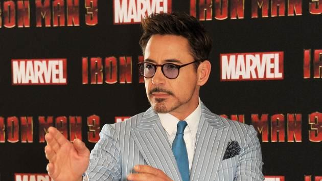 Robert Downey Jr. poses at the 'Iron Man 3' photocall on April 17, 2013 in London -- Getty Premium