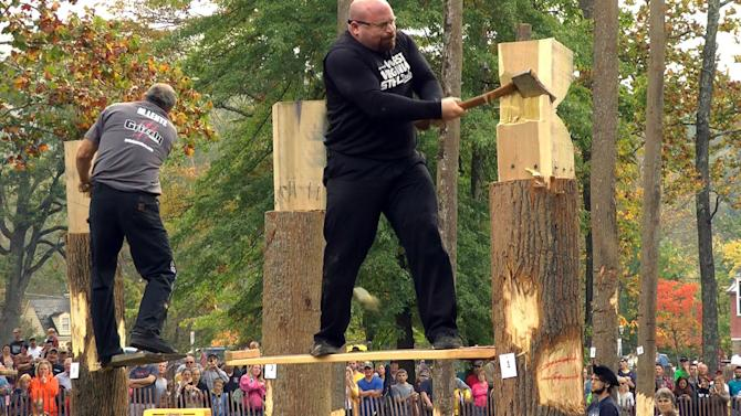 W.Va. family loves thrill of lumberjack contests