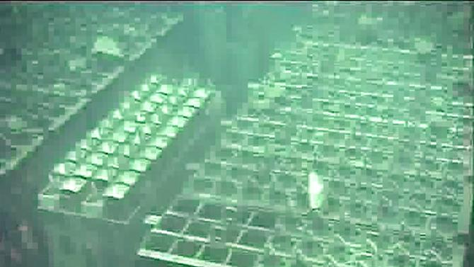 FILE - This May 7, 2011 file image from video footage released by Tokyo Electric Power Co., shows spent fuel storage pool of the Unit 4 reactor building at the crippled Fukushima Dai-ichi nuclear power plant in Okuma town, Fukushima Prefecture, northeastern Japan. Four fuel storage pools at Japan's tsunami-damaged nuclear plant have been without fresh cooling water for more than 15 hours due to a power outage. The plant's operator said Tuesday morning, March 19, 2013 it was trying to repair a broken switchboard that might the cause of the problem. (AP Photo/Tokyo Electric Power Co., File) EDITORIAL USE ONLY