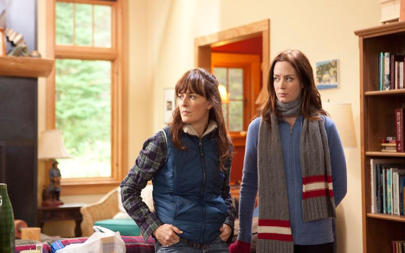 "This film image released by IFC Films shows Rosemarie DeWitt, left, and Emily Blunt in a scene from ""Your Sister's Sister."" (AP Photo/IFC Films, Tadd Sackville-West)"