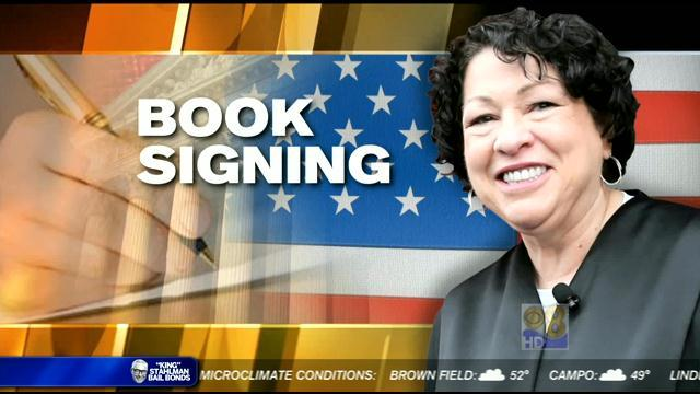 Supreme Court Justice Sotomayor at USD for book event
