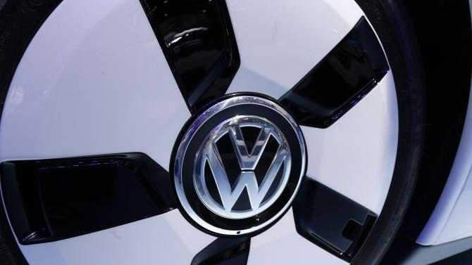 File photo of a Volkswagen logo on a XL 1 car
