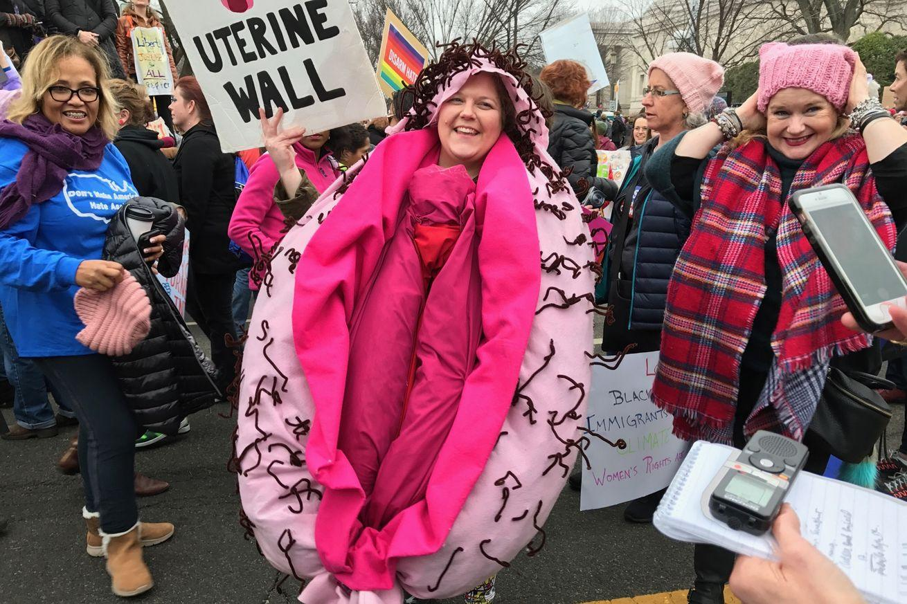 What celebrities? Scenes from the brilliant, messy, chaotic Women's March.