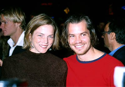 Premiere: Timothy Olyphant with his wife at the Hollywood premiere of Lions Gate's Shadow of the Vampire - 12/29/2000 