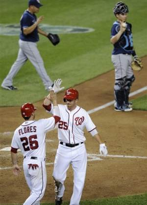 Peralta gives up key double, Nationals beat Rays