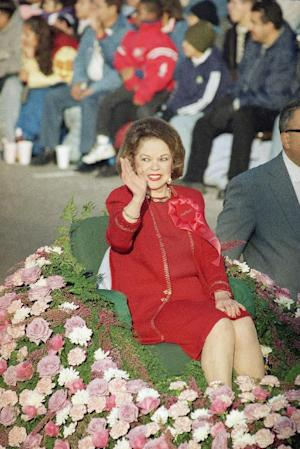 FILE - In this Jan. 1, 1999 file photo, Grand Marshall …