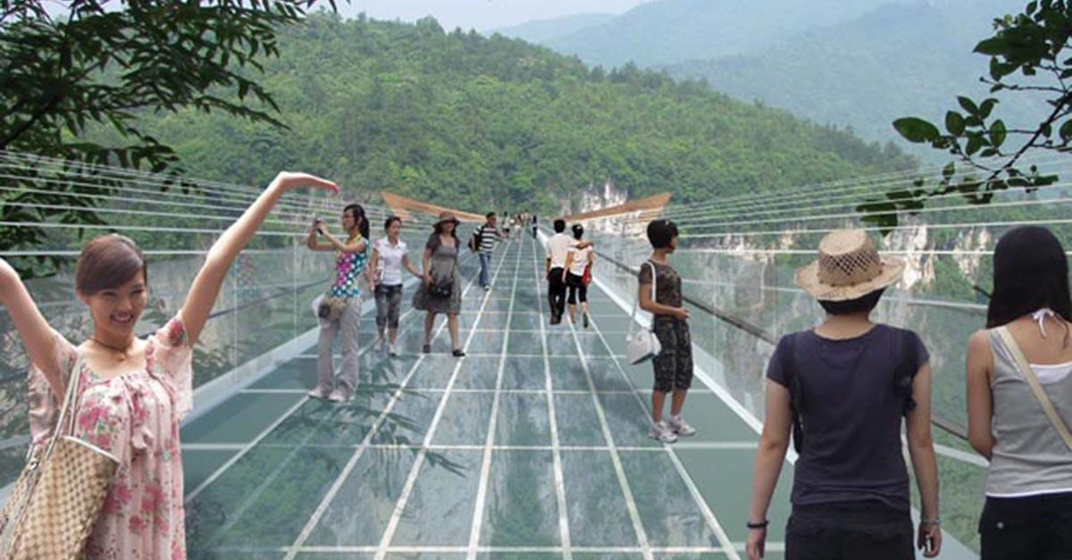 China Plans to Open World's Highest Glass Bridge