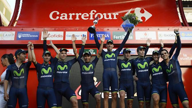 Cycling - Movistar win Tour of Spain first stage