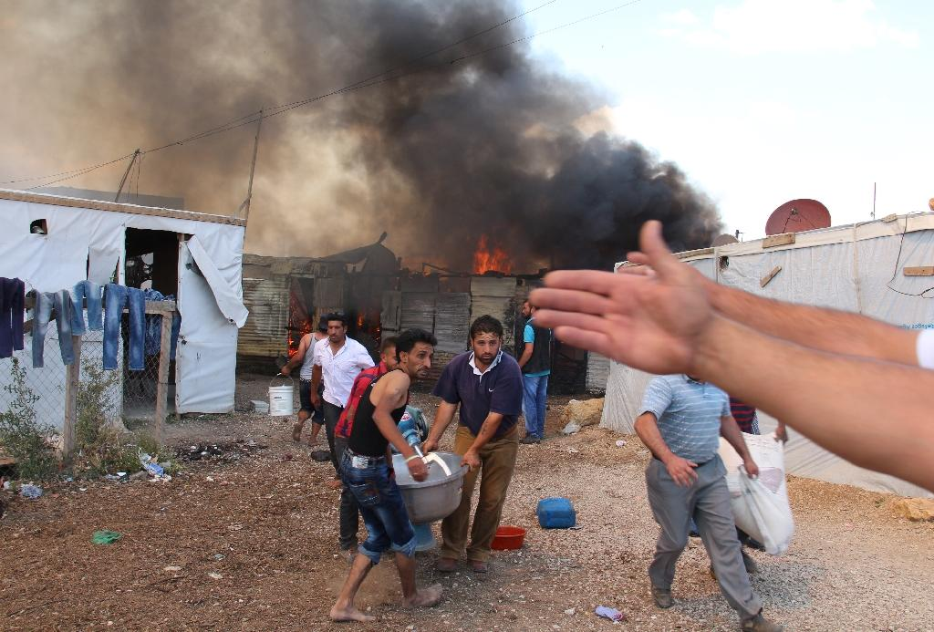 Baby killed in fire at Syria refugee camp in Lebanon