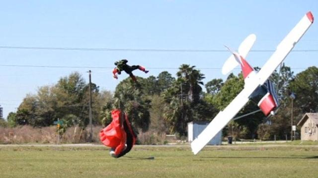 Skydiver collides with small plane on ground in Florida