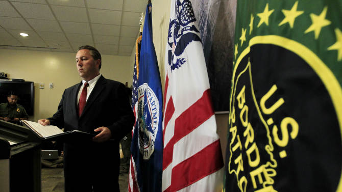 Hours after a U.S. Border Patrol agent was shot and killed, and one other was shot and injured, James Turgal, FBI Special Agent in Charge Phoenix, arrives to speak at a news conference at the U.S. Customs and Border Protection Brian A. Terry Border Patrol Station, Tuesday, Oct. 2, 2012, in Bisbee, Ariz. (AP Photo/Ross D. Franklin)