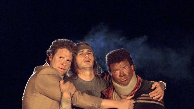 Seth Rogen James Franco Danny R. McBride Pineapple Express Production Stills Columbia Pictures 2008