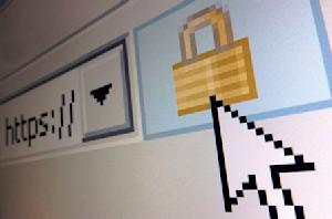 File photo illustration of a lock icon, signifying an encrypted Internet connection, seen on an Internet Explorer browser in Paris