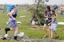 In tornado's wake, worried parents seek out kids