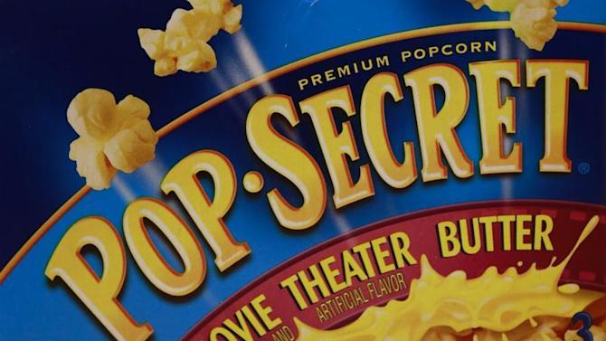 A Diamond Food's Pop Secret microwave popcorn box is seen illustrated in New York