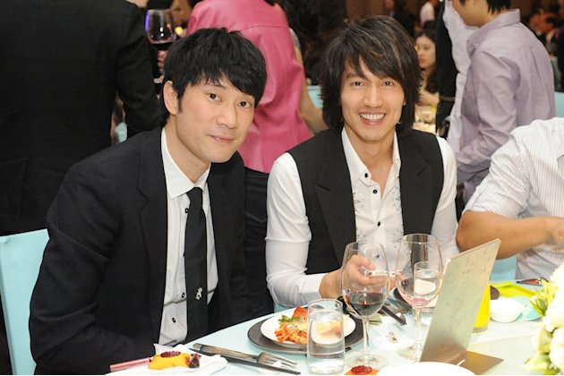 Also spotted: Taiwanese actor-singer Jerry Yan (R)