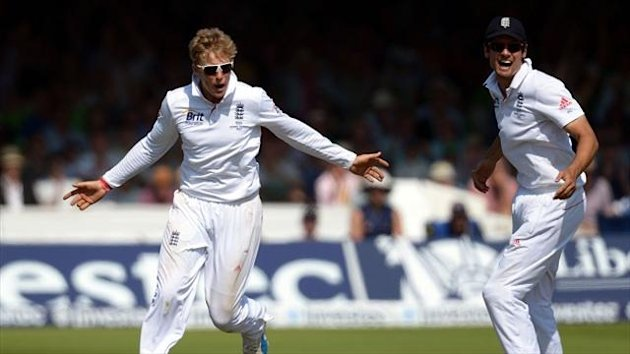 Alastair Cook, right, heaped praise on Joe Root, left