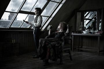 Johnny Depp and Helena Bonham Carter in DreamWorks Pictures' Sweeney Todd: The Demon Barber of Fleet Street