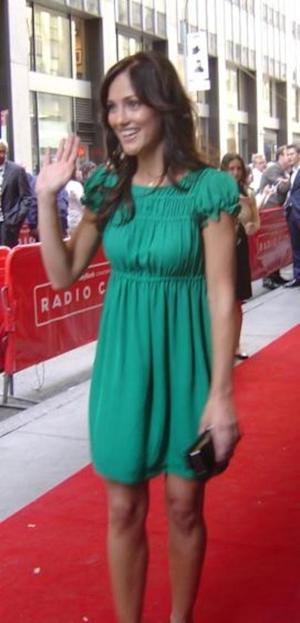 Minka Kelly says hello to fans!
