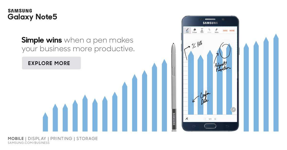 The Samsung® Galaxy Note5 for Business