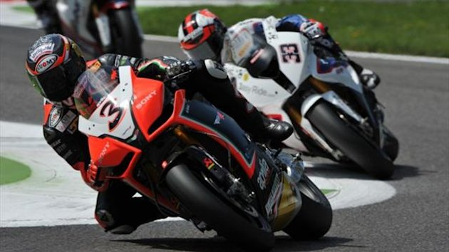 WORLD SUPERBIKE Max Biaggi in action in race two at Monza on June 10 2012