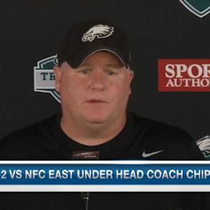 Philadelphia Eagles head coach Chip Kelly not worried about outside expectations of rookies