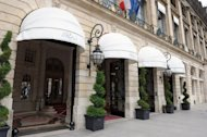 View of Paris's Hotel Ritz, Place Vendome on July 30, 2012